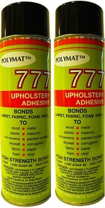 QTY 2: 20 oz cans Polymat 777 Glue Spray Adhesive