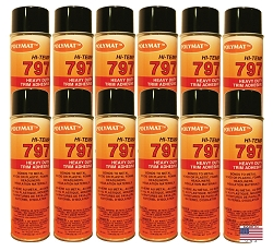 QTY 12: 20 oz can Polymat 797 Hi-Temp Glue Spray Adhesive