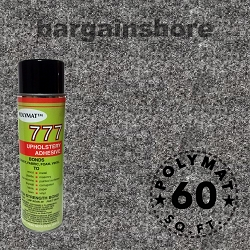SIze: 16ft x 3.75ft Polymat™ Series-25 Charcoal + 1 777 Glue
