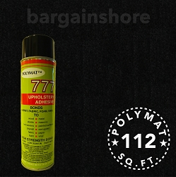 Size: 30ft x 3.75ft Polymat™ Series-25 BLACK + 1 777 GLUE