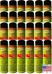 QTY 24: 20 oz cans Polymat 777 Glue Spray Adhesive
